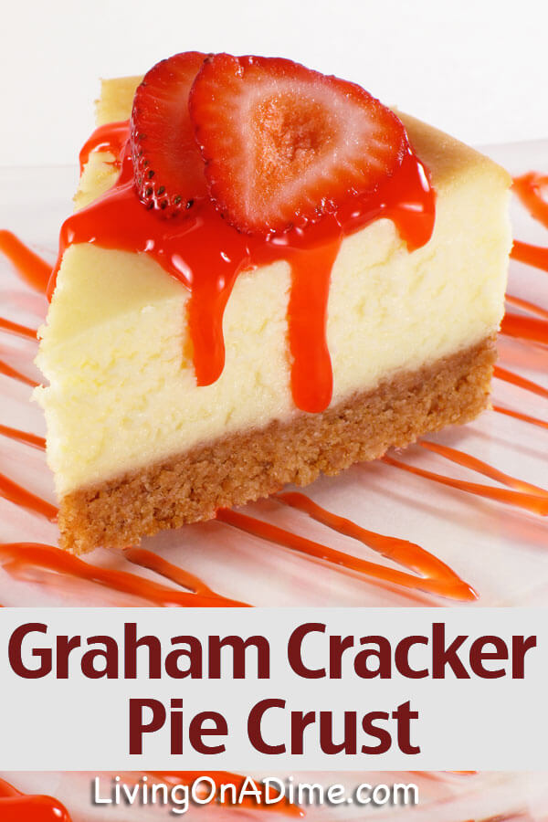 This homemade graham cracker pie crust recipe makes a quick and easy base for your homemade pies that you can make in minutes with ingredients you already have!