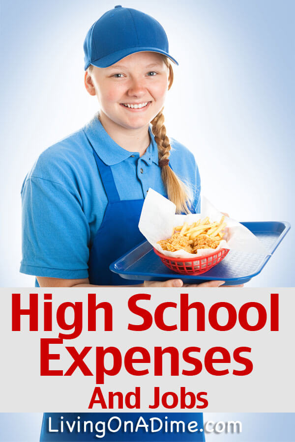 Why should I pay so much for high school kids activities? Here are some good points about high school expenses and jobs!
