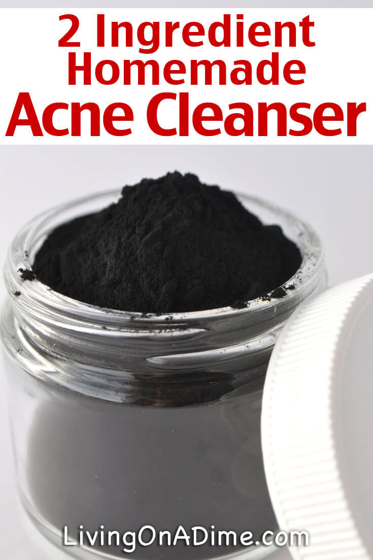Have you seen the new acne cleanser with activated charcoal?! It can cost anywhere from $6 to $10 for one bottle! Did you know you can make your own homemade acne cleanser with only 2 ingredients for just pennies?