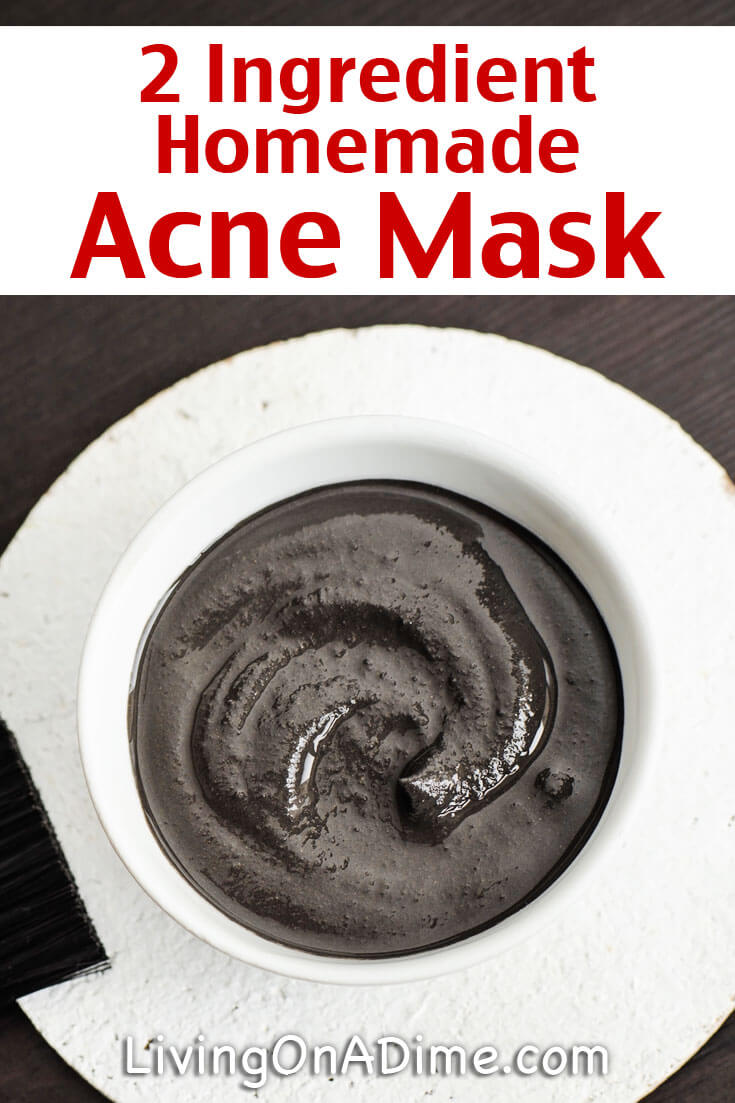 You can use this easy homemade DIY acne mask recipe to make your own acne mask. It only has 2 ingredients and you can make it for just pennies!