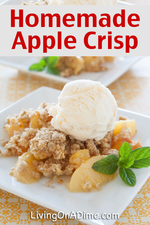 Homemade Apple Crisp Recipe - 18 Of The BEST EVER Apple Recipes