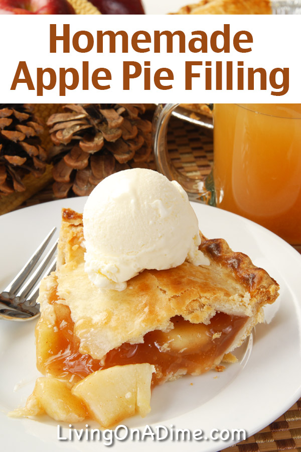 This easy homemade apple pie filling recipe is a great way to use apples! It makes the most delicious apple pies and they're especially great for holidays!