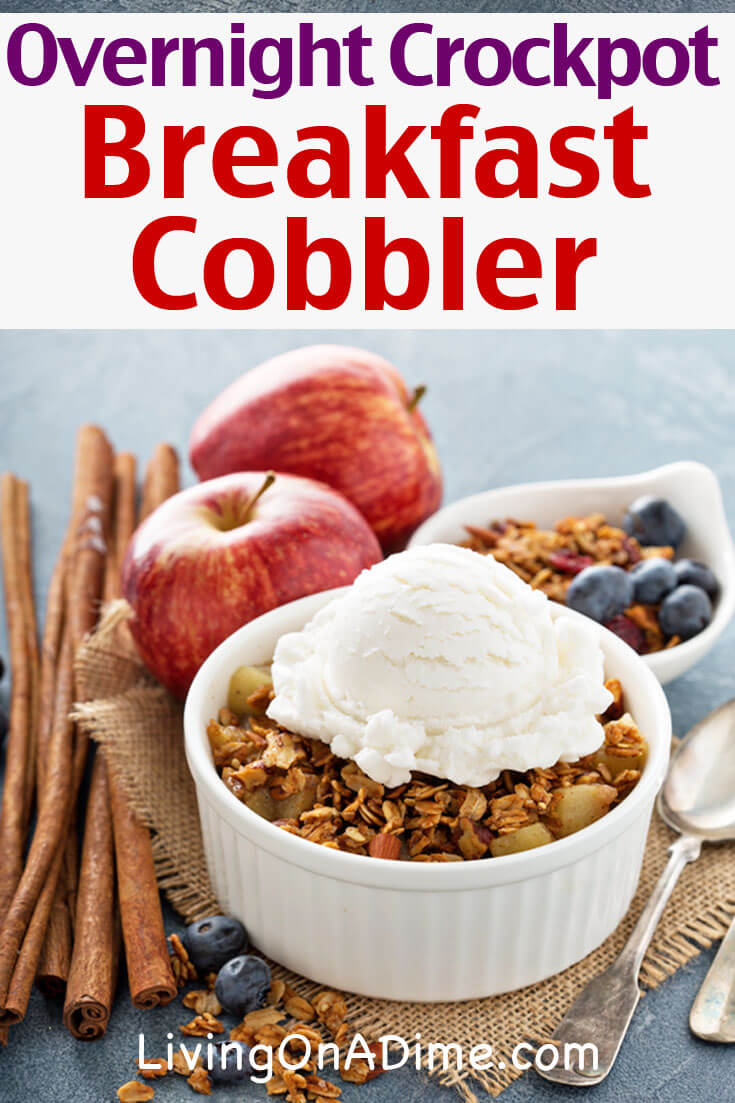 This homemade apple breakfast cobbler is another yummy apple crisp recipe you can toss in the crockpot the night before and have a great breakfast in the morning! Click here for the quick and easy recipe!