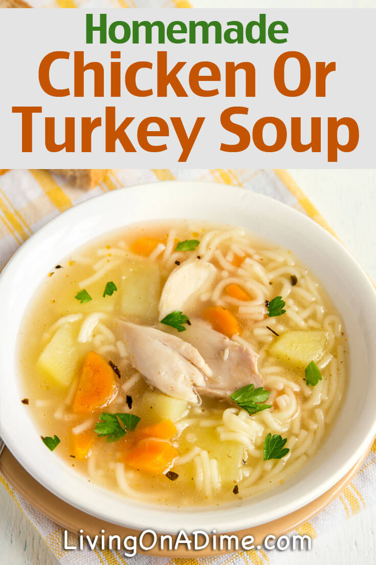 OK, grandma really did know the secret! Here are some easy homemade chicken and turkey soup recipes. These soups are super yummy for cold weather days and great comfort foods when you or a loved one is sick!