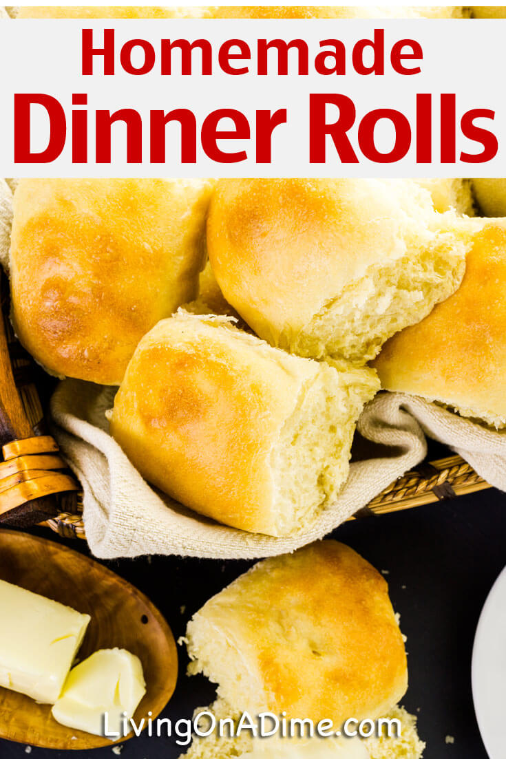 This easy homemade dinner rolls recipe makes light and delicious dinner rolls like grandma used to make that go well with virtually any meal!