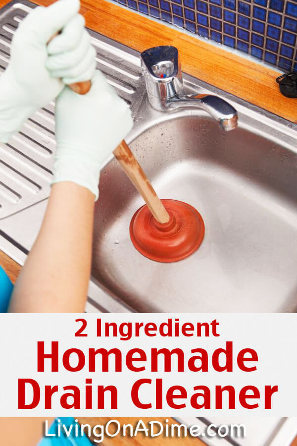 This easy homemade drain cleaner and drain opener recipe makes it so much easier to unclog