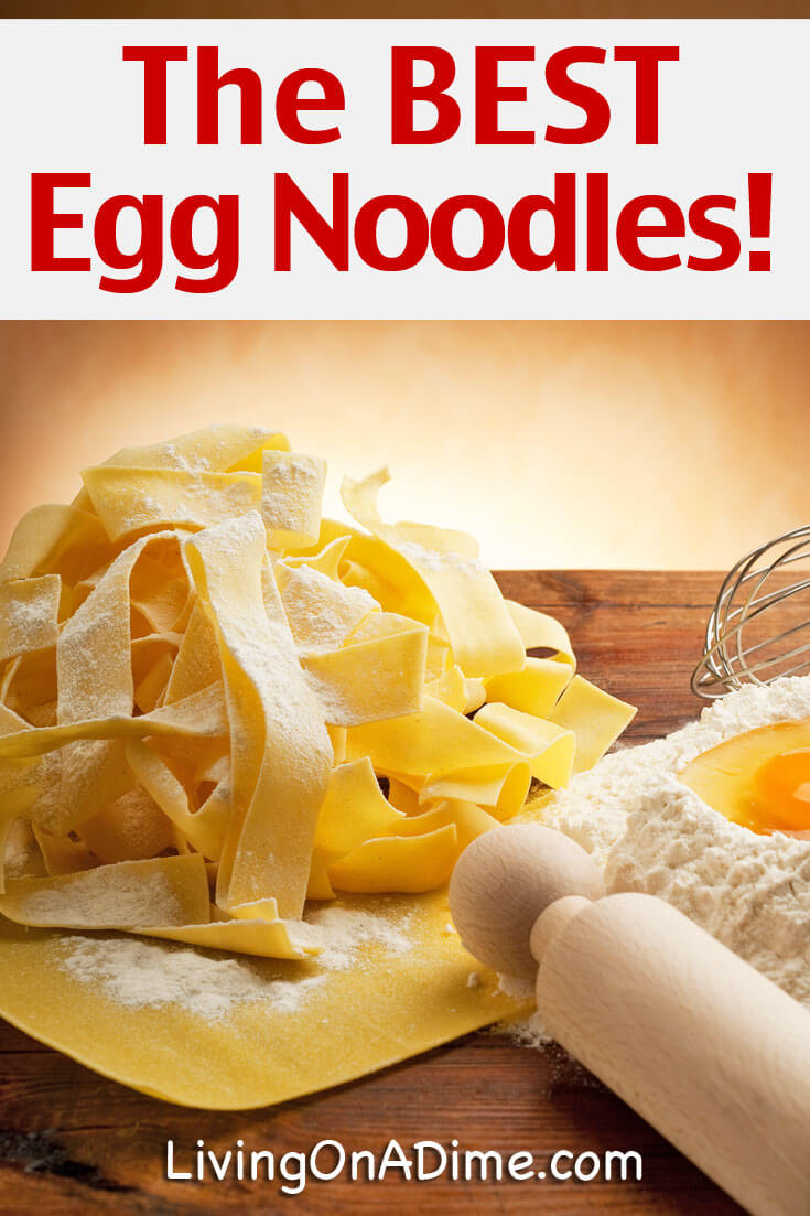 Best Homemade Egg Noodles Recipe - Living on a Dime