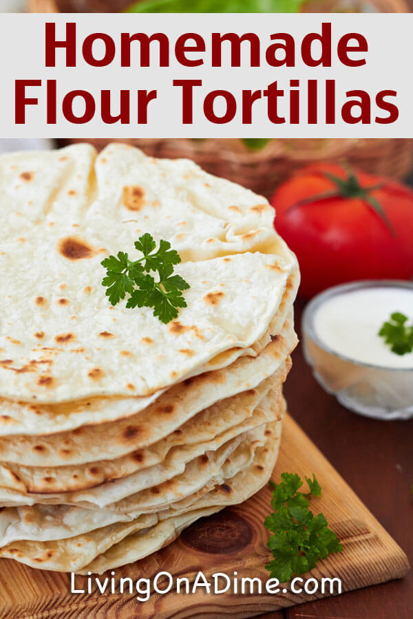 Using this easy homemade flour tortillas recipe, it's simple to make yummy homemade tortillas at home using ingredients you already have in your kitchen!