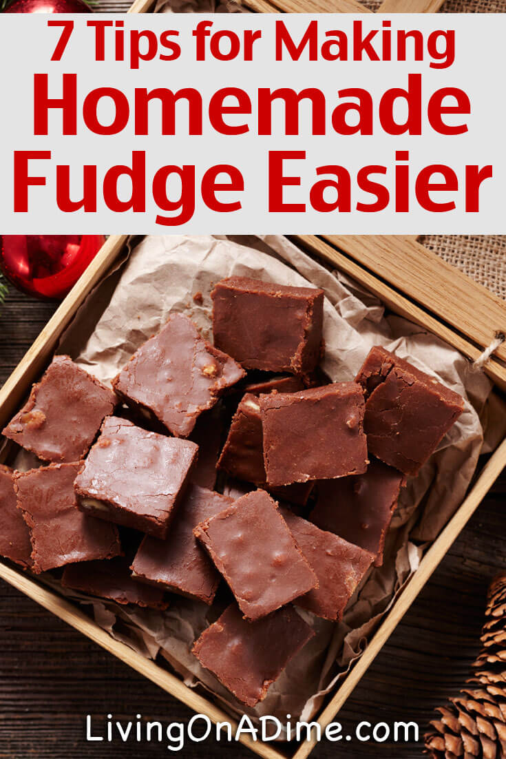 Here are some easy tips for making it easier to make delicious homemade fudge and also to cut it and give it as holiday gifts to your family and friends!