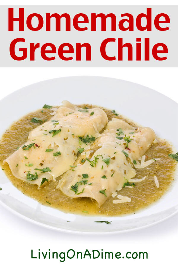 This green chile recipe makes a tasty light meal when eaten with tortillas or poured over rice. You can also use it to top a lot of different Mexican themed dishes! Mike and I especially love it as a meal. I do often pre-cook this recipe and freeze and it's a super easy freezer meal any time I'm not feeling well. It's super delicious! Get this and lots of other freezer meal recipes and ideas for making freezer meals simpler here!