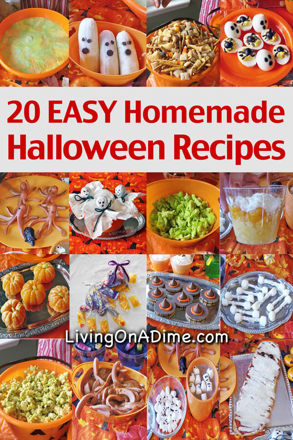 20 Homemade Halloween Recipes Food Party And Snack Ideas