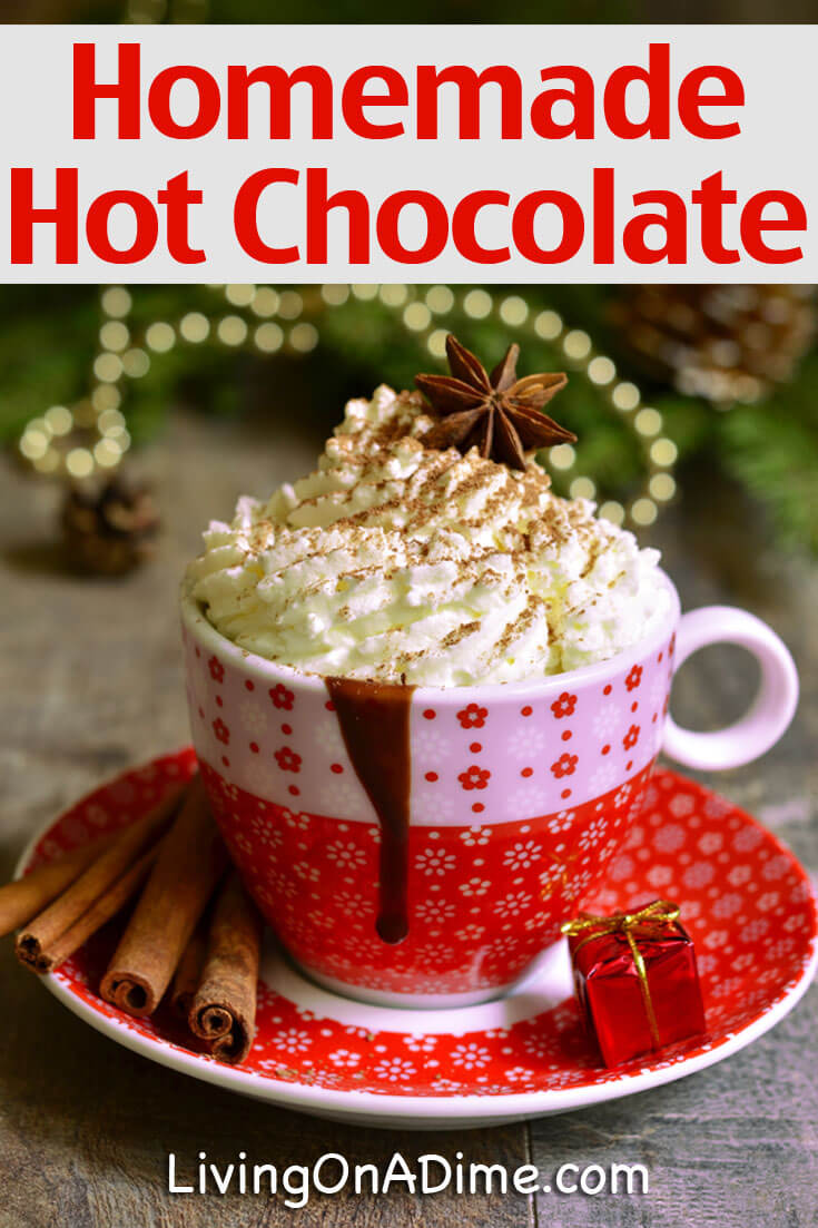 This homemade hot chocolate mix recipe is easy to make with ingredients you already have at home and saves money. This recipe also includes jar mix instructions to make it perfect for gift giving!