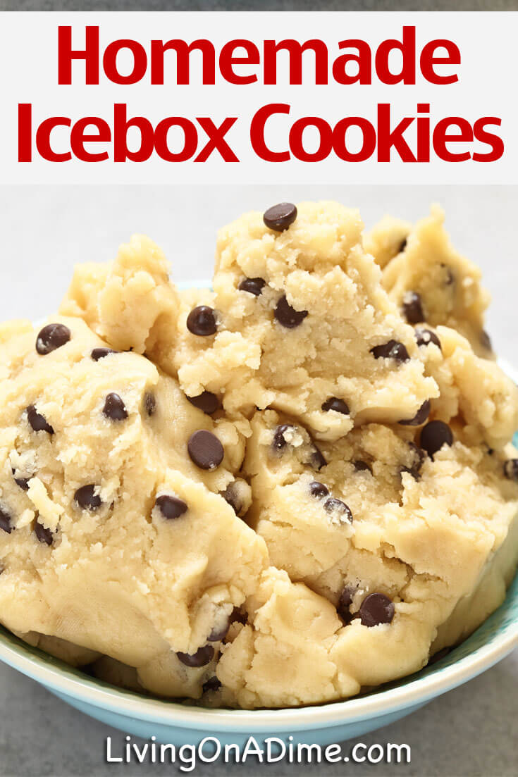 This homemade icebox cookies recipe makes great raw edible cookie dough or you can bake it into tasty cookies! It's easy to add chocolate chips or any extras you prefer and kids and families especially love it!