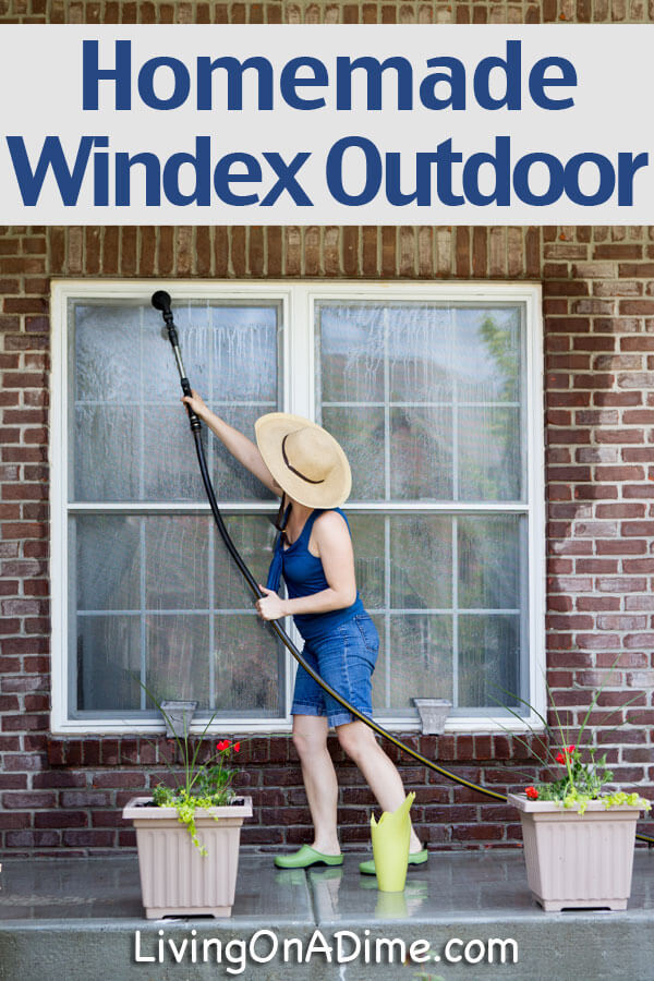 Homemade Outdoor Window Washer Recipe