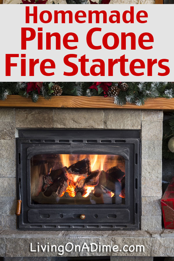 These homemade pinecone and sawdust firestarters make it easy to start fires and they make the house smell so yummy! And what a great homemade gift ideas that will make their holidays super special!