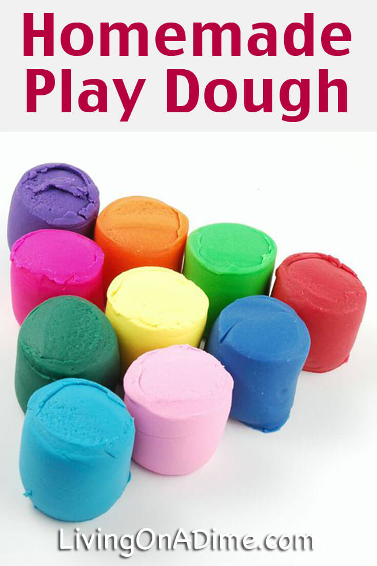 Here is an easy homemade play dough recipe that your kids are sure to love! It's easy to make with ingredients you already have in your kitchen and it's a great way to save money over the cost of store bought play dough!