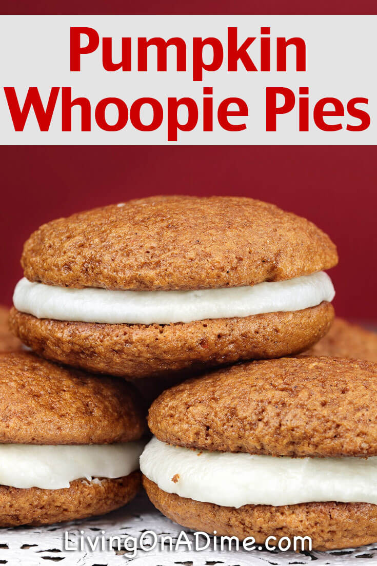 This is the best homemade pumpkin whoopie pies recipe! When my daighter and I were visiting Amish country, she fell in love with Amish whoopie pies, also called moon pies. This is an easy, moist and delicious treat for dessert or any time!