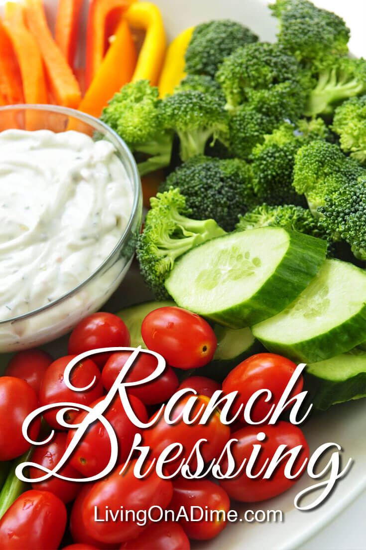 This homemade ranch dressing recipe is quick and easy to make and is versatile for salads, vegetables and many other foods. It is so delicious and fresh, you'll wonder why you ever bought store bought! My husband Mike's reaction is priceless after a recent taste test on our show! It also makes an easy party dip! And best of all,