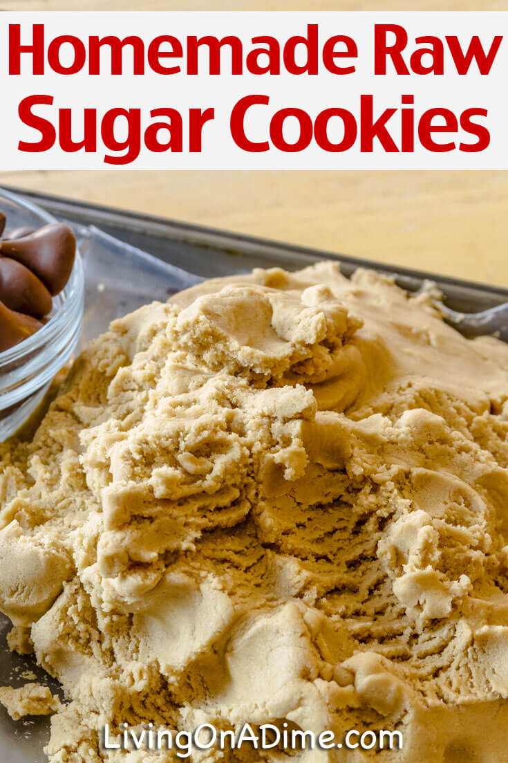 This homemade raw sugar cookies recipe makes an easy edible cookie dough with the flavor of homemade sugar cookies! It's a tasty treat for you or the kids that you can make in minutes!