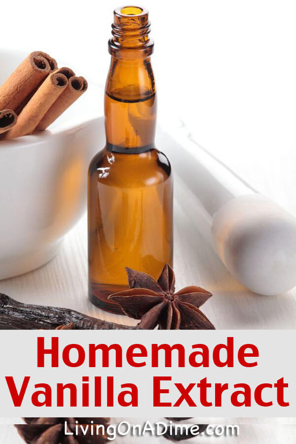 This easy homemade vanilla extract recipe is easy and makes a great homemade Christmas gift! Buy cute bottles at the thrift store to make it look elegant!