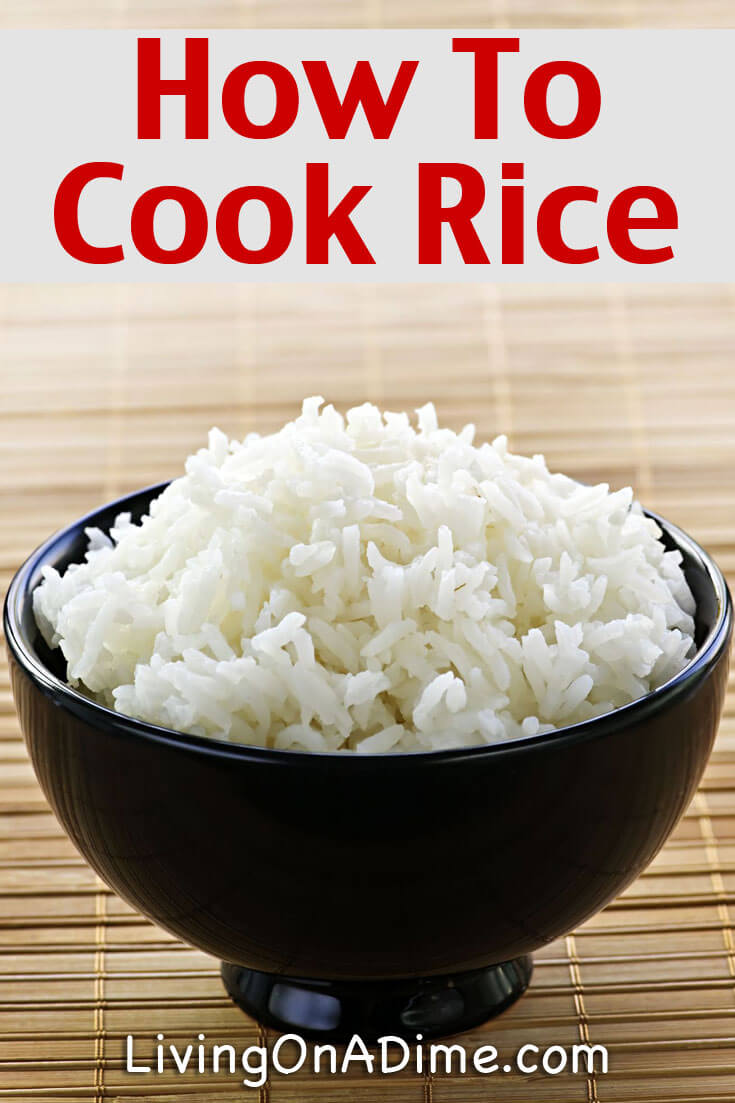 Many people wonder how to cook rice, but it's not difficult! This rice recipe is an easy way to make rice.