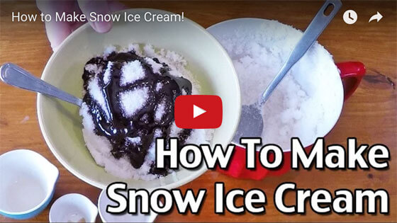 How To Make Snow Ice Cream video