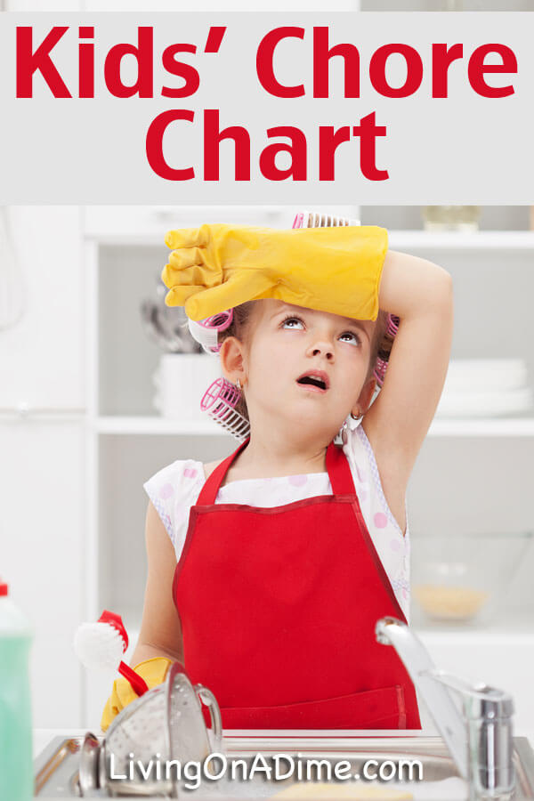 Kids' Chore Chart - Click Here To See Our Chore List And Get Easy Ideas!