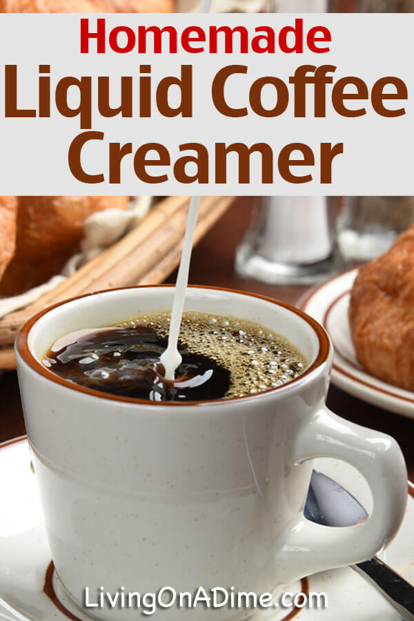 Liquid Coffee Creamer Recipe