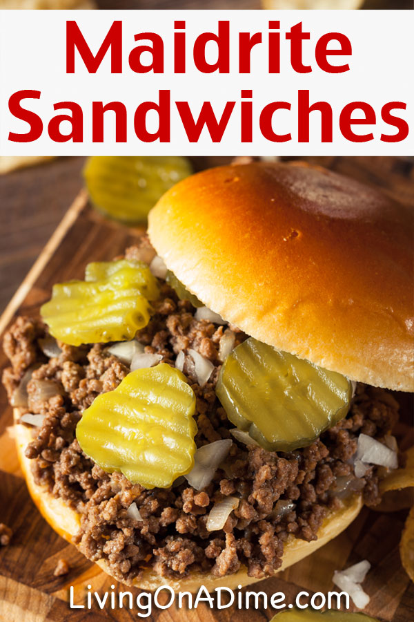 This maid-rite recipe is one of the recipes I do precook and freeze. It's a tasty recipe similar to Sloppy Joe but with a different, milder taste. It's an easy freezer meal idea to make ahead and freeze.