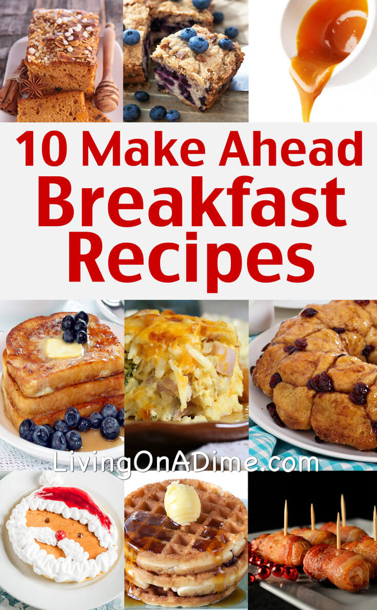 these easy make ahead breakfast recipes and christmas breakfast ideas make it easy to get your