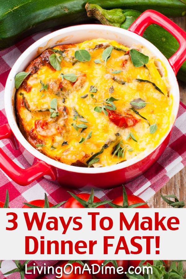 3 Ways to Make Dinner FAST! Cooking Made Easy!
