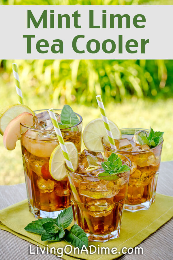 Mint Lime Tea Cooler Recipe - 13 Homemade Flavored Tea Recipes