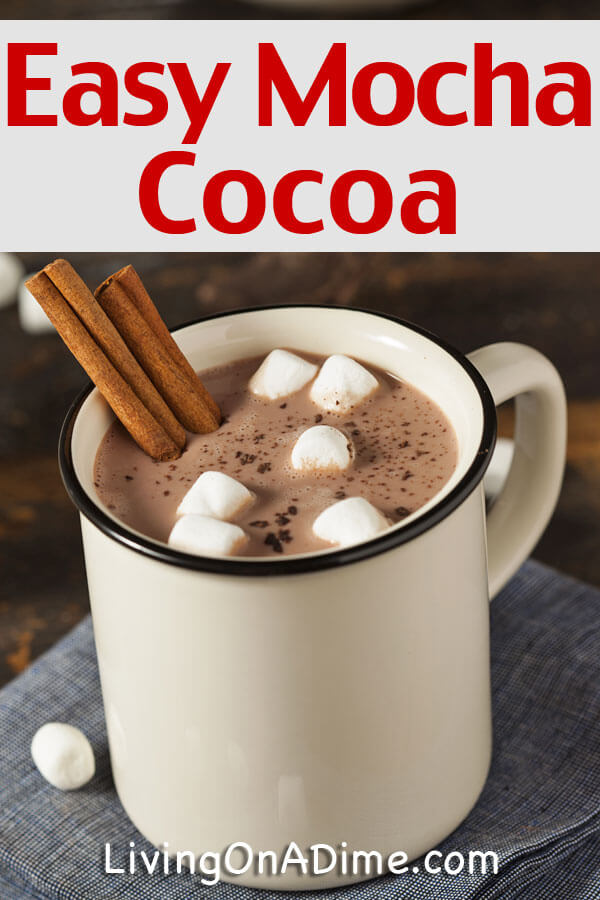 This easy mocha cocoa recipe is super yummy and it's quick to make! It makes a great gift in a jar perfect for the hard to buy for family member or friend! Click here for the recipe!