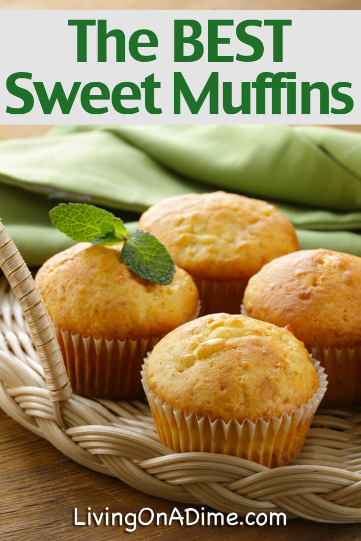 This is Mom's best homemade sweet muffins recipe, which makes moist, sweet and delicious muffins! It is our most favorite muffins recipe! Our family loves them and your family and friends are sure to love them, too!