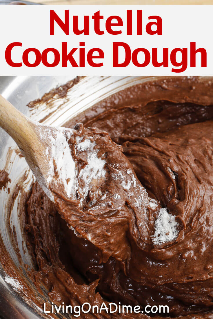 Here is an easy edible Nutella cookie dough recipe that has the delicious flavor of Nutella. It's an easy after school snack you can make in just a few minutes!