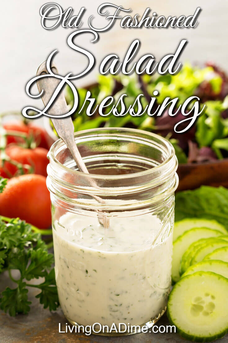 Old Fashioned Salad Dressing Recipe