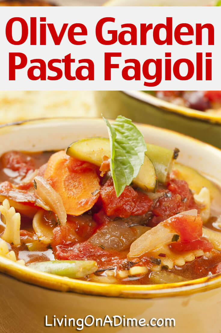 Olive Garden Pasta Fagioli Copycat Recipe Living On A Dime