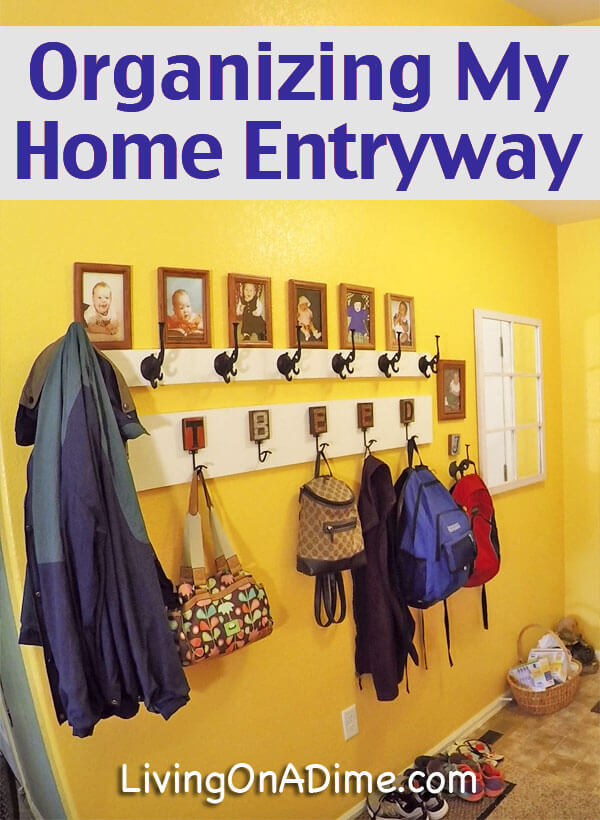 Organizing Your Home - My New Coat Rack And Entryway