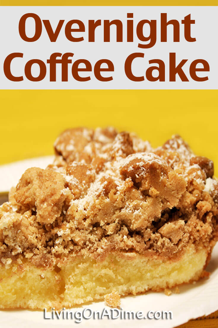 This easy overnight coffee cake recipe is a tasty breakfast item for Easter or other holidays or for a Sunday morning breakfast! Your family will love it!
