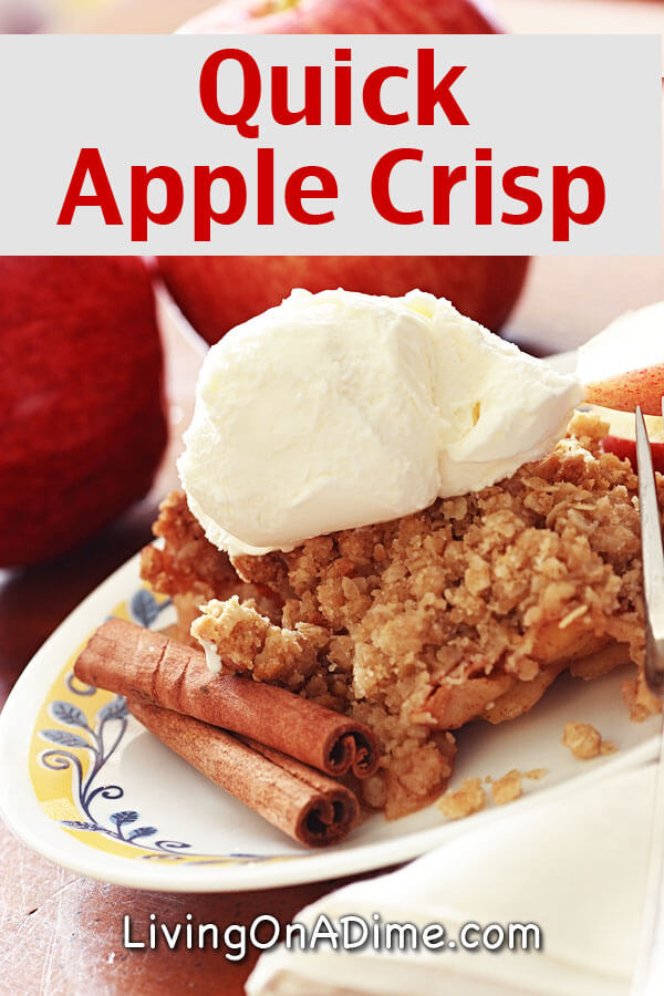 Quick Apple Crisp Recipe - 18 Of The BEST EVER Apple Recipes