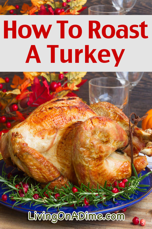 An easy recipe and tips for how to roast a turkey! This is the best roast turkey recipe ever and everyone raves about how moist and delicious it is!