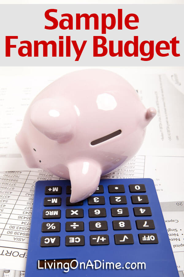 Sample Family Budget  Living On A Dime