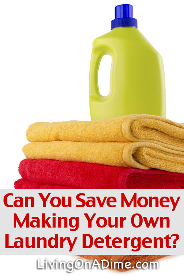 Does it really save money making your own laundry detergent? This is an interesting answer...