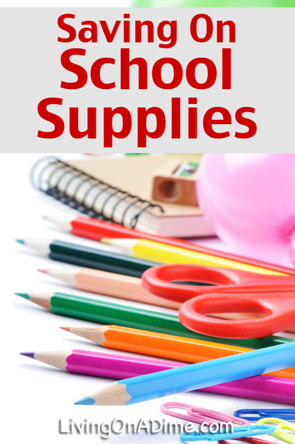 Saving On School Supplies - Click Here To Save Now!