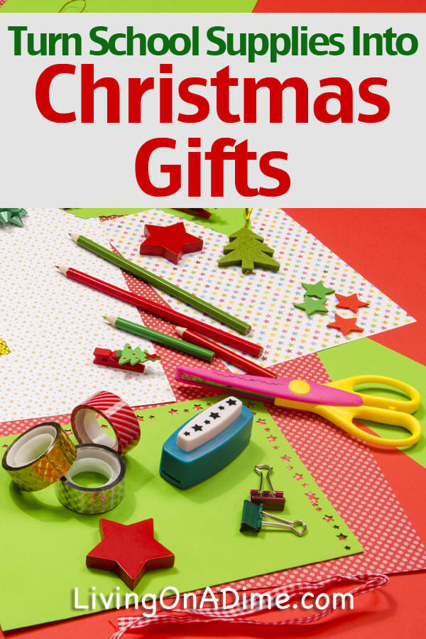 Here's a great idea! Grab some extra school supplies and use them for art boxes and other Christmas gifts!