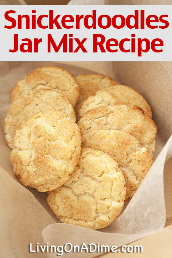 This homemade snickerdoodle cookies jar mix recipe makes super yummy snickerdoodles! This post also includes a great bean soup jar mix! Both jar mixes make a great consumable gifts! Click here to get them!