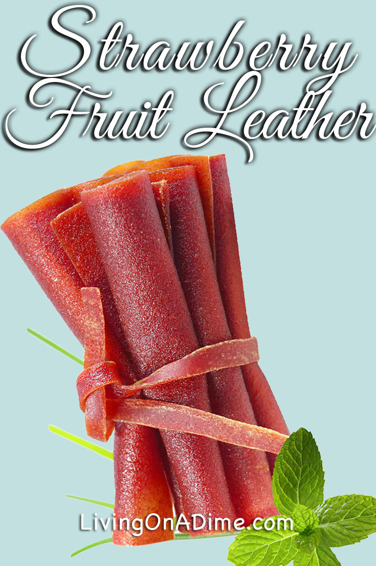 This strawberry fruit leather recipe is an easy and cheaper way to make a strawberry snack like homemade fruit roll-ups. This strawberry recipe is a great way to use extra strawberries!