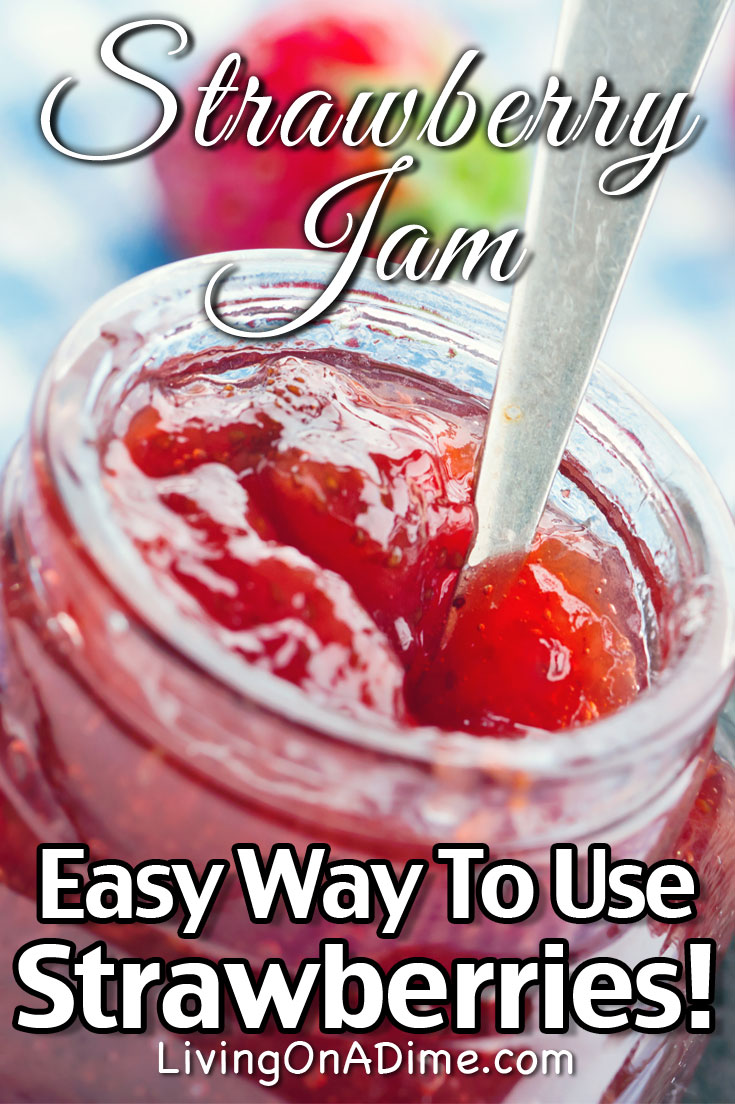 This easy strawberry jam recipe is one of those strawberry recipes that's a great way to preserve extra strawberries or take advangate of a big sale on strawberries! This strawberry jam is super tasty!