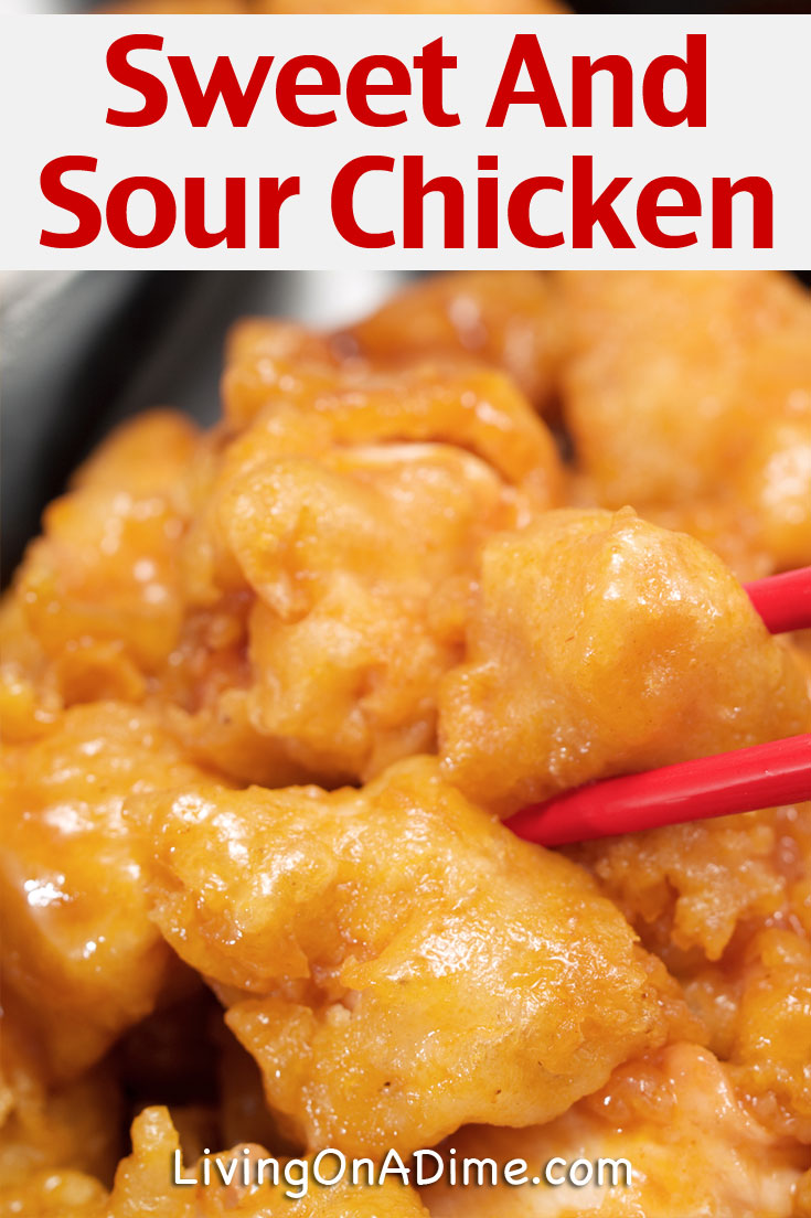 Here is an easy sweet and sour chicken recipe you can use to make a quick and easy dinner at home! This sweet and sour chicken is a quick and inexpensive dinner recipe and kids and families love it! It's much cheaper than eating out and you can  make dinner for $5 for the entire family!