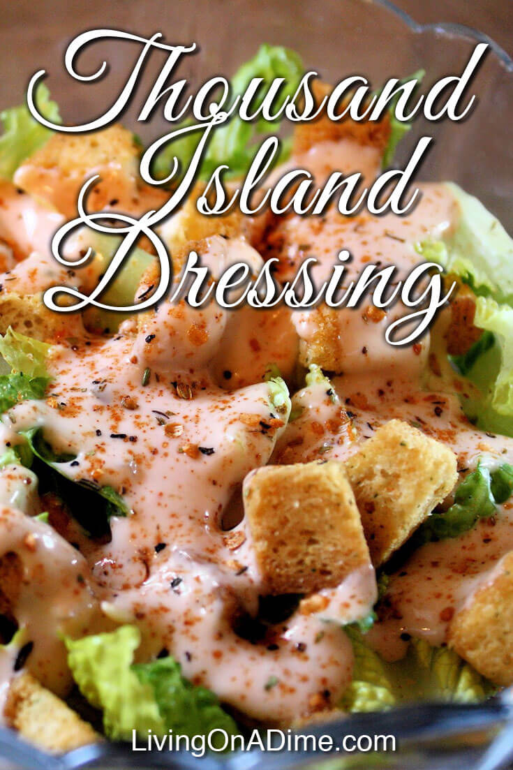 This thousand island dressing is an easy homemade version of the classic salad dressing that you can make at home for pennies. It's good not only on salads and vegetables, but also on sandwiches and hamburgers. It's similar to the Big Mac sauce at McDonalds and is great on hamburgers. Mike tested this homemade salad dressing a recent taste test on our show and loved it!